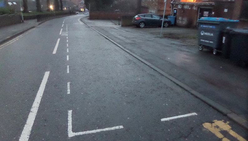 On-street parking bay